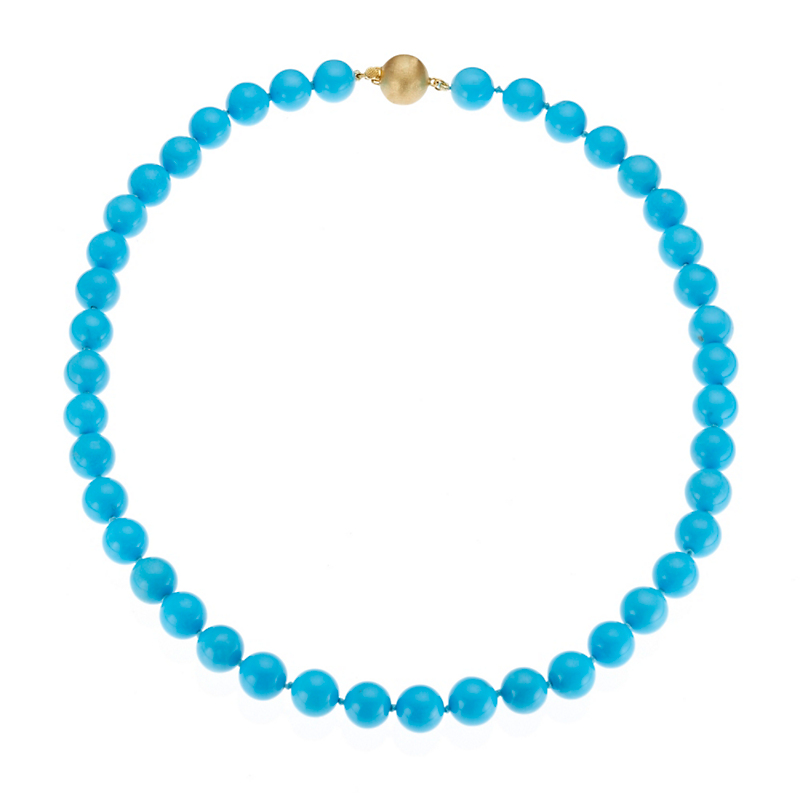 Gump's Turquoise Bead Necklace, 11mm