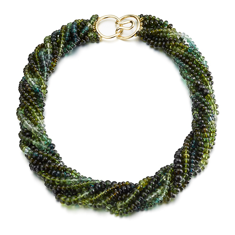 Gump's Eight-Strand Green Tourmaline Twist