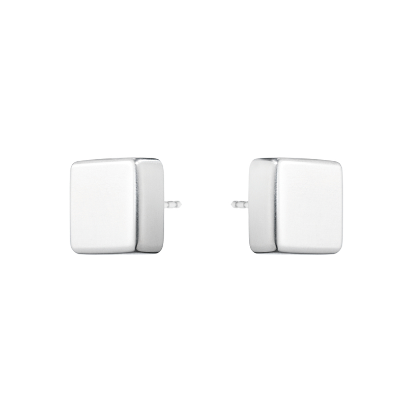 Georg Jensen Aria Square Sterling Silver Stud Earrings