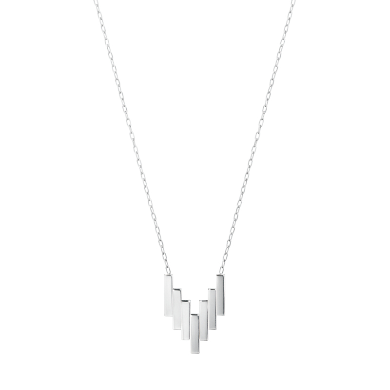 Georg Jensen Aria Seven Bar Sterling Silver Pendant Necklace