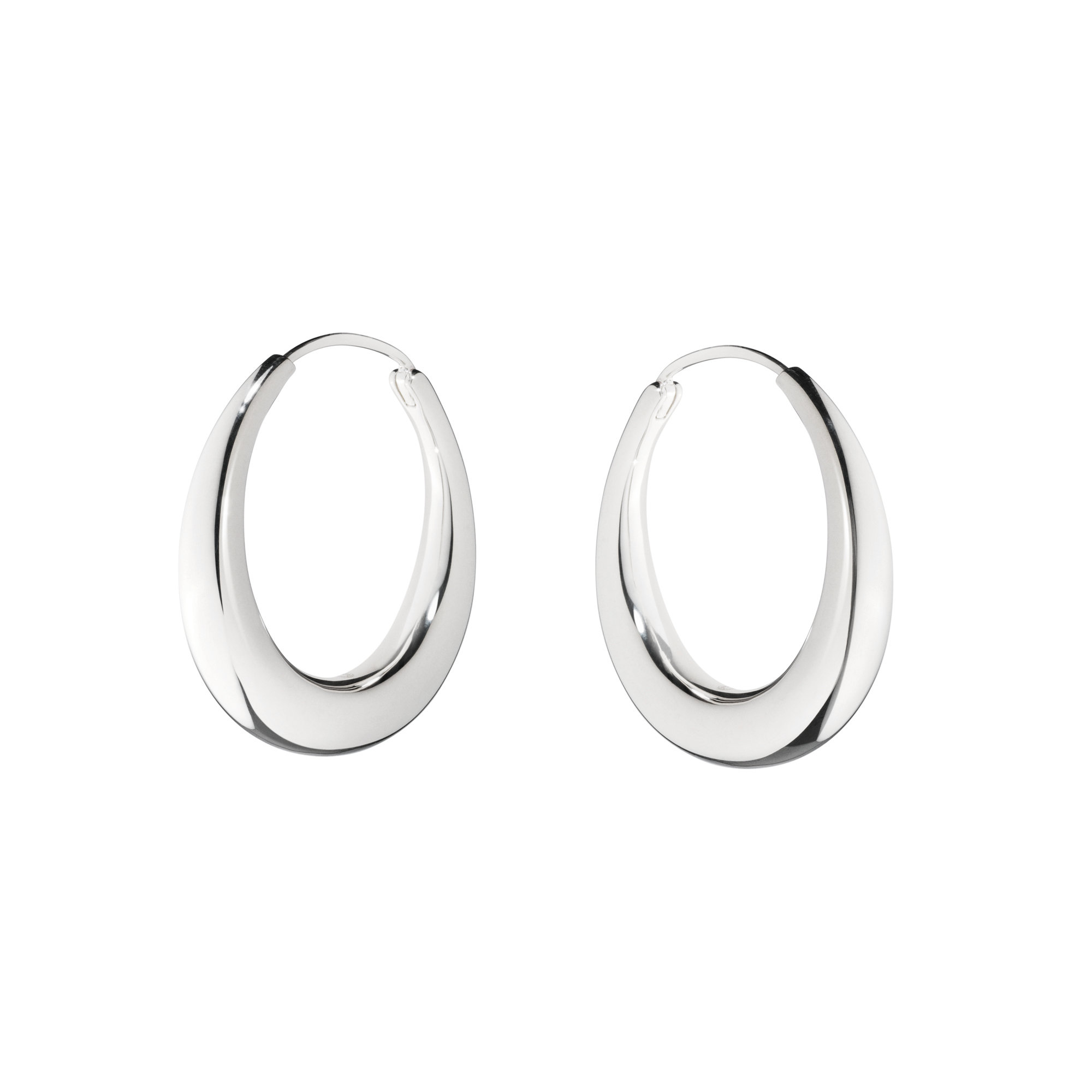 Georg Jensen Archive Collection Sterling Silver Hoop Earrings