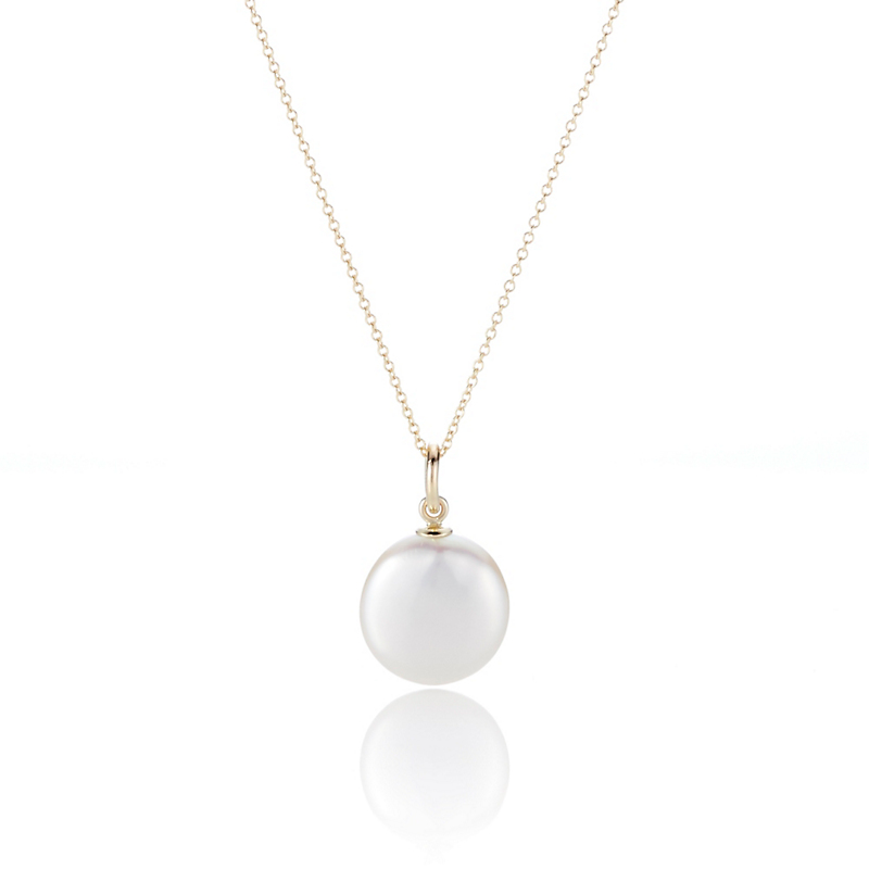 Gump's White Coin Pearl Pendant Necklace