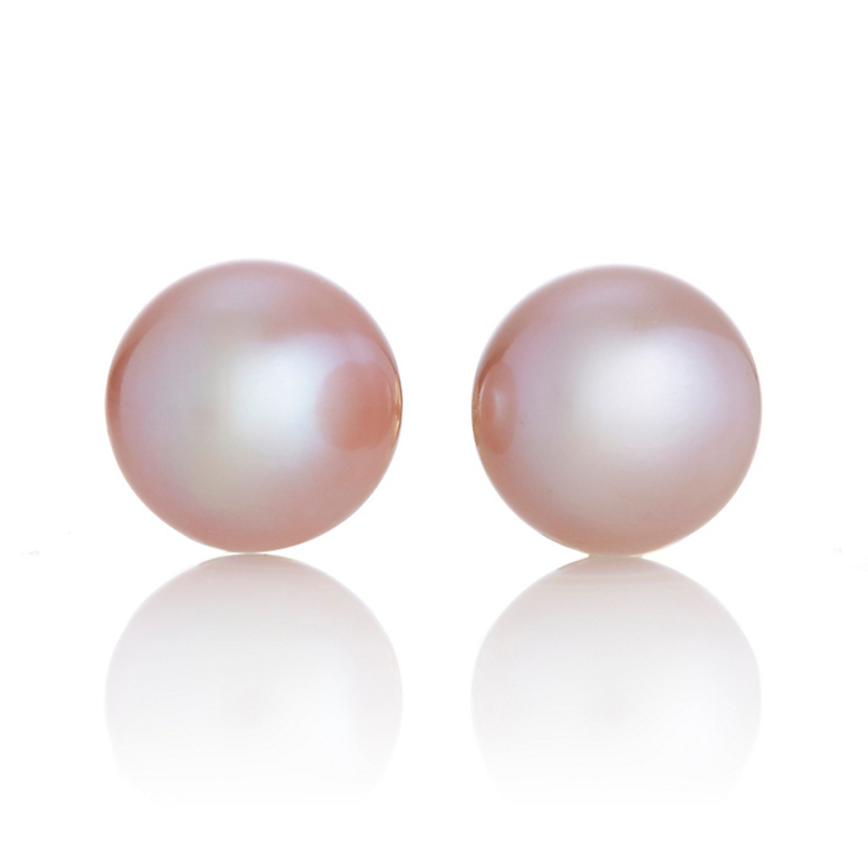 Gump's Pink Pearl Stud Earrings