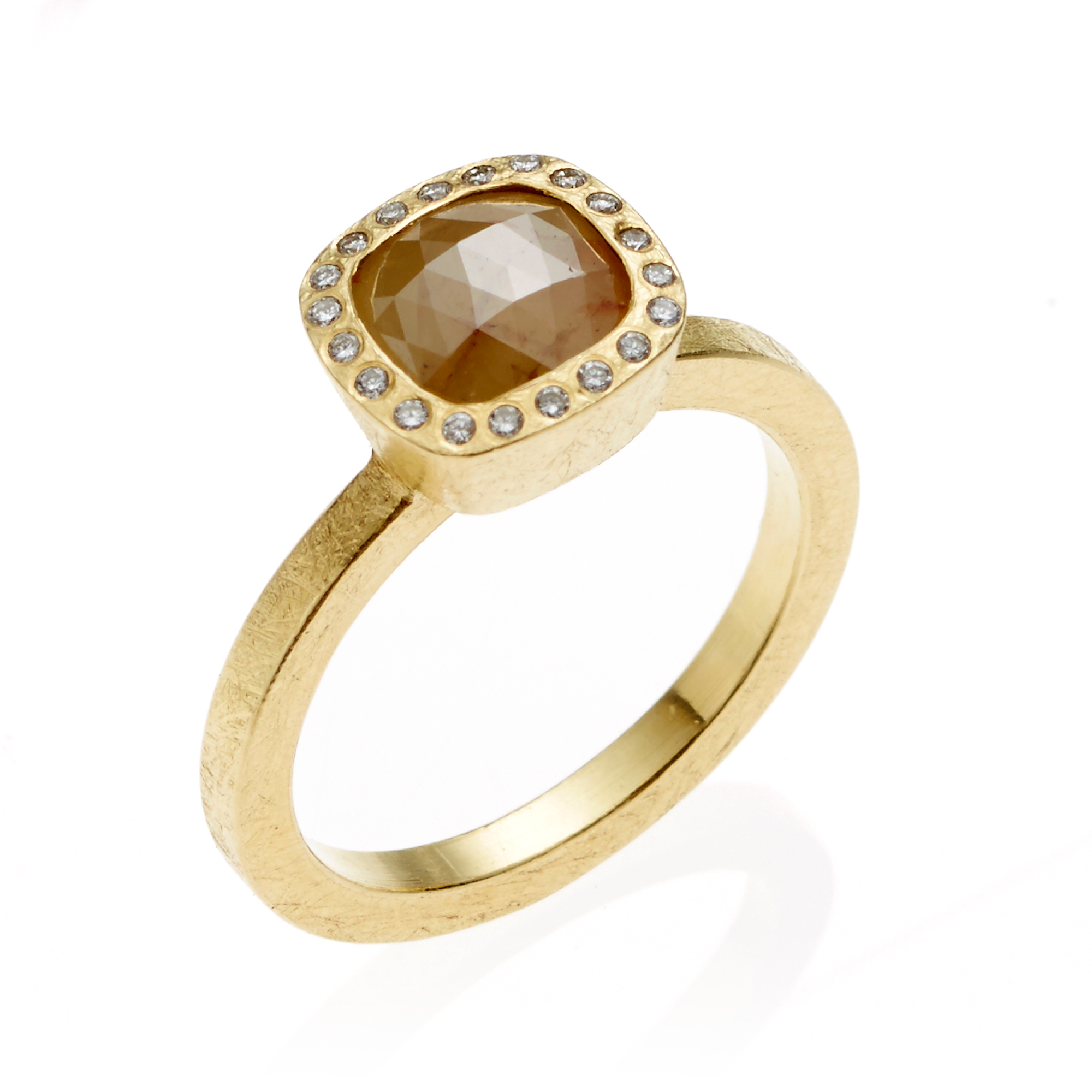 Todd Reed Yellow Fancy Square Diamond Gold Ring