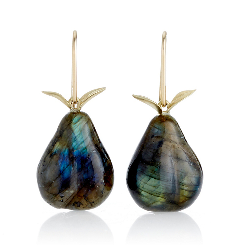Gabriella Kiss Labradorite Pear Drop Earrings