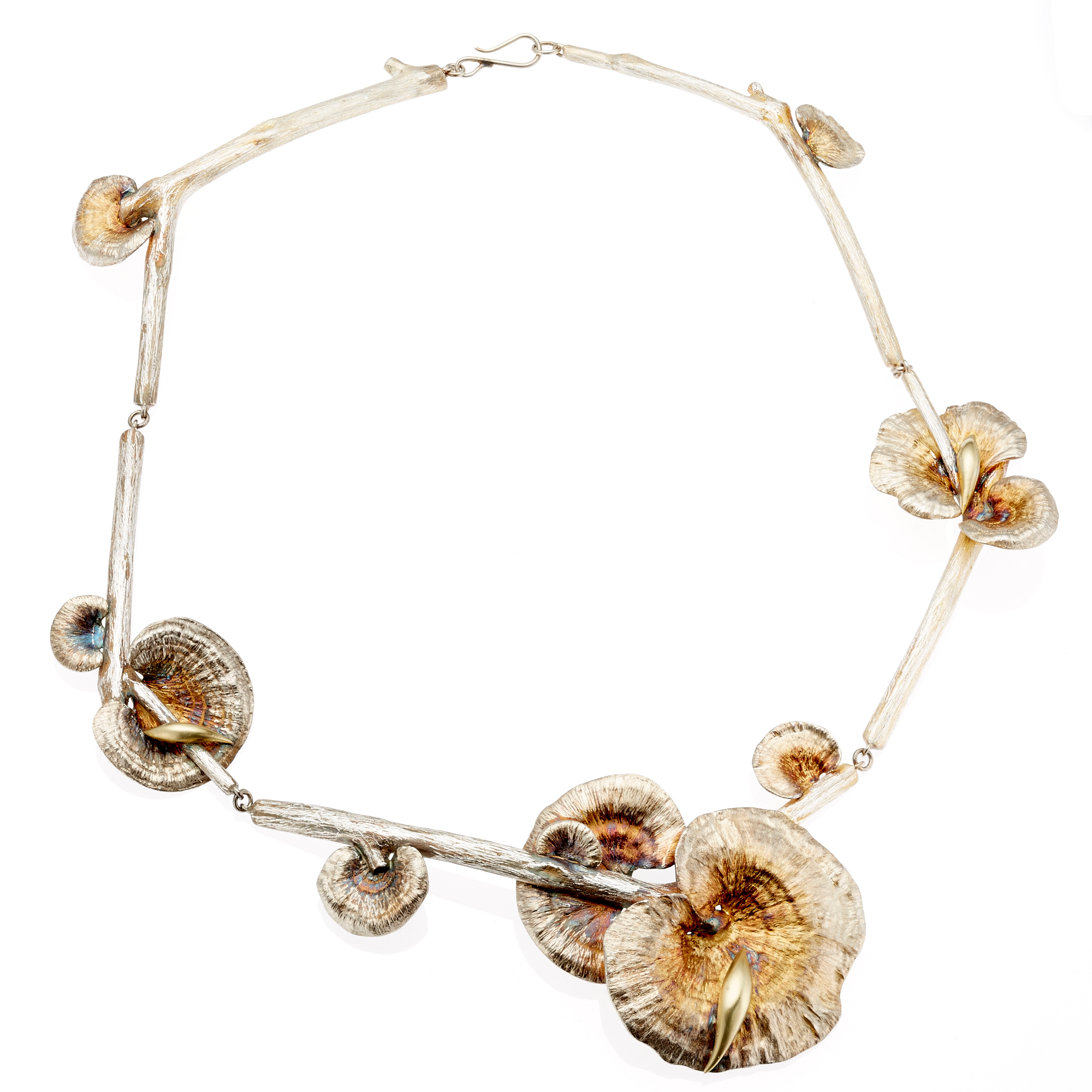 Gabriella Kiss Sterling Silver & Gold Large Mushroom Necklace