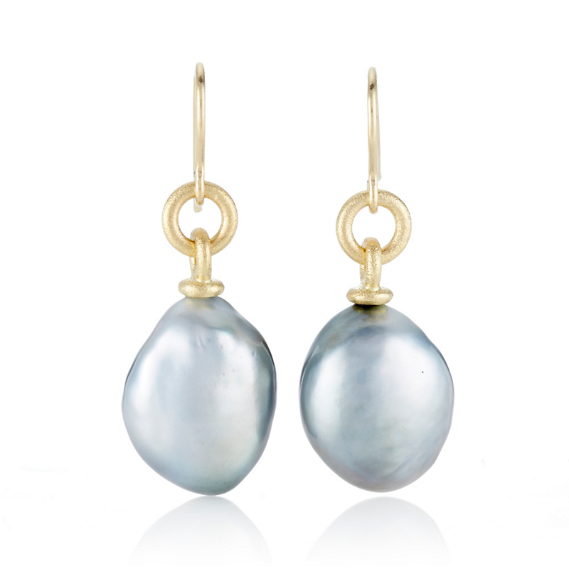 Aaron Henry Tahitian South Sea Pearl Drop Earrings