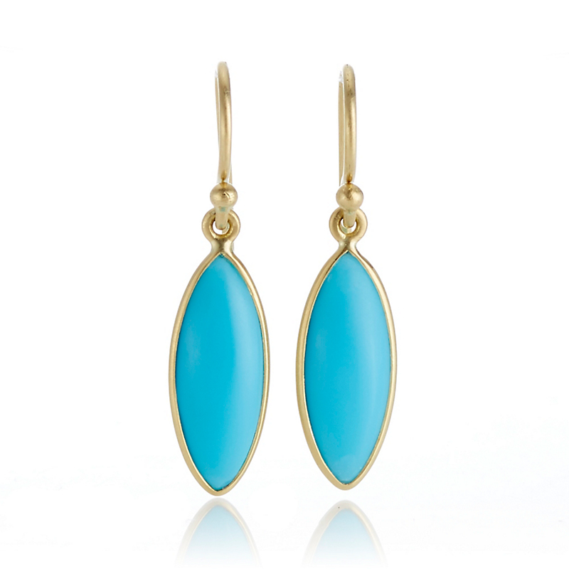 Kothari Turquoise Marquise Drop Earrings