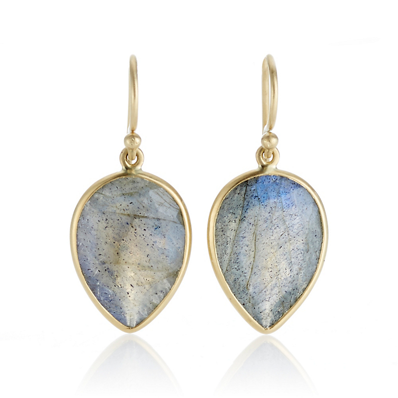 Kothari Labradorite Inverted Pear Drop Earrings