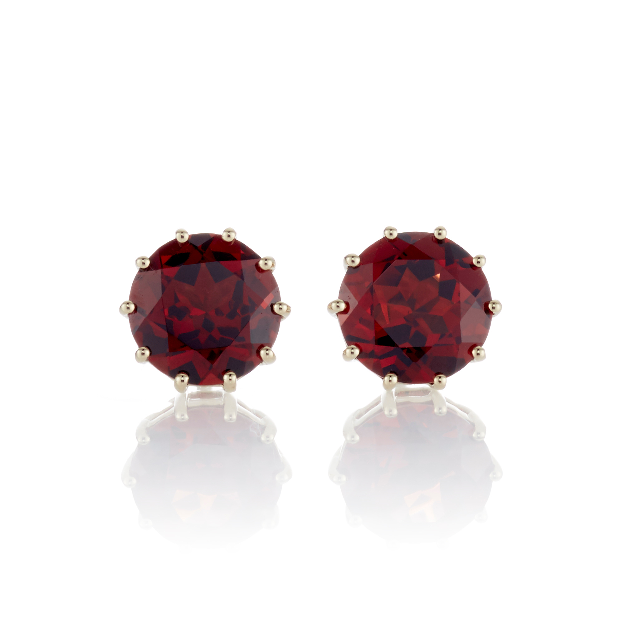 Gump's Faceted Garnet Earrings