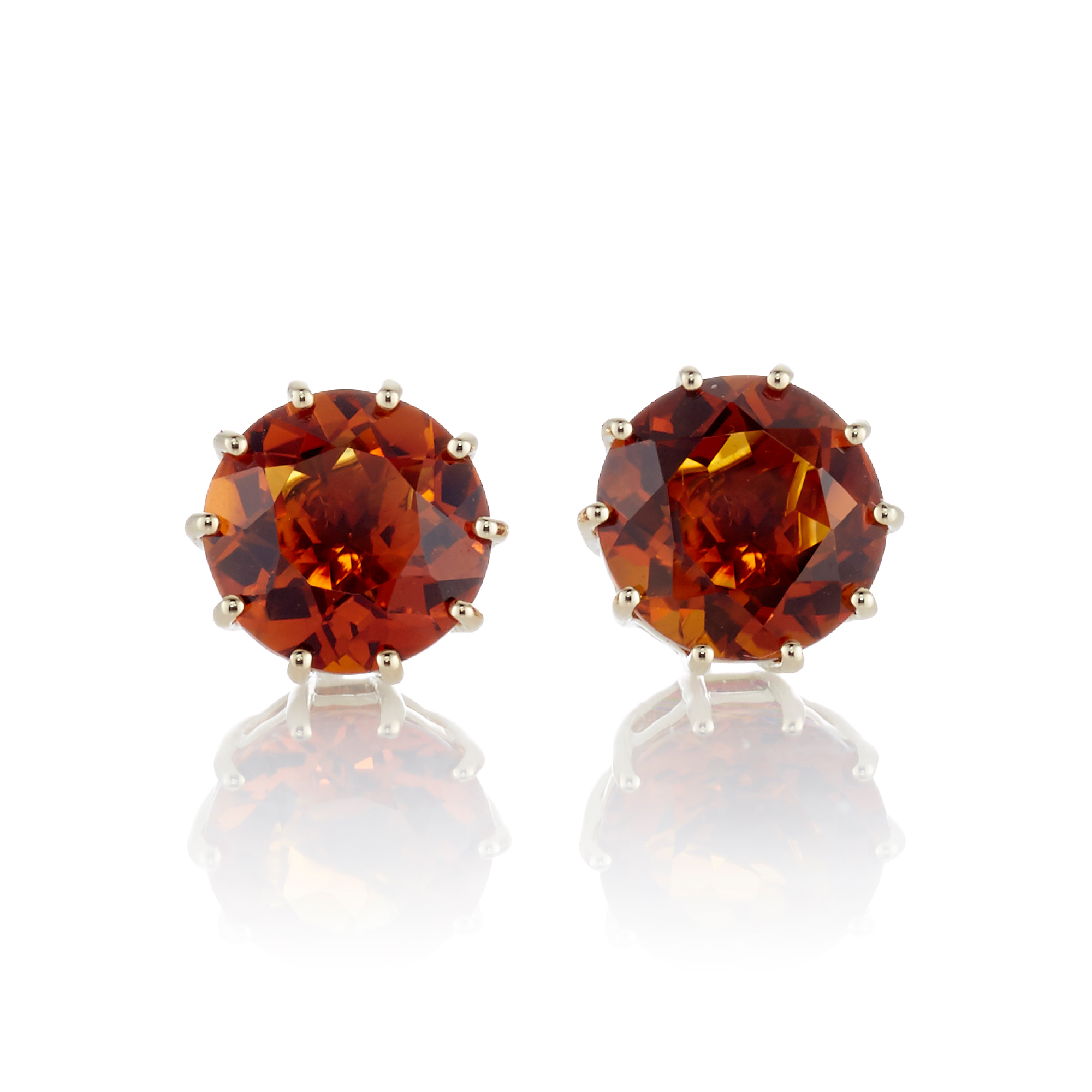 Gump's Faceted Madeira Citrine Earrings