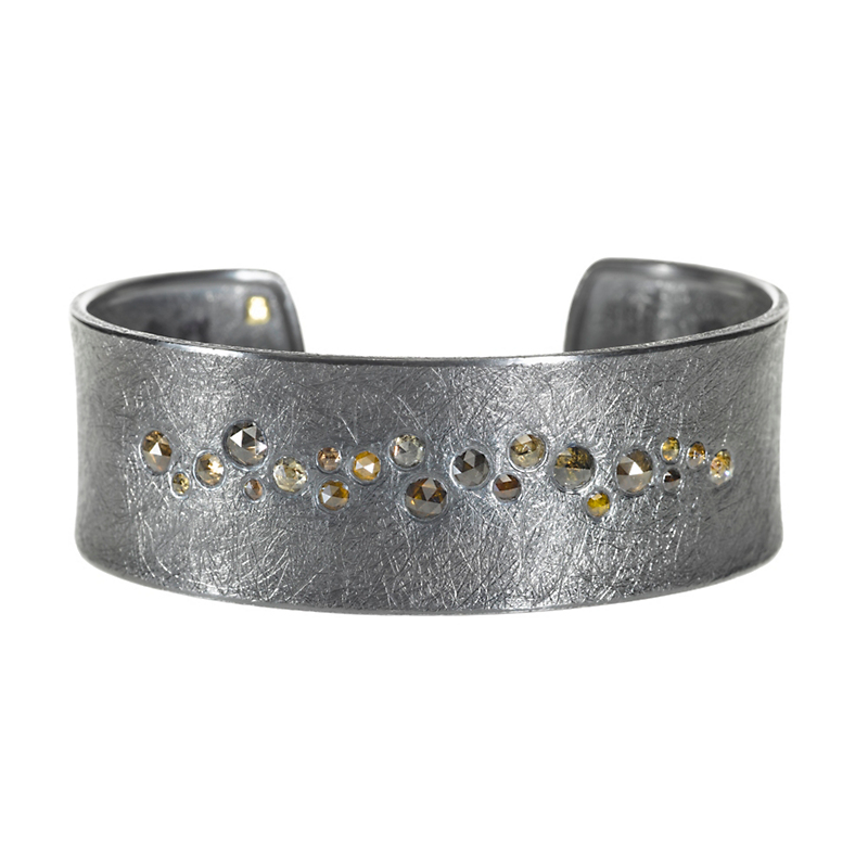 Todd Reed Autumn Diamond Oxidized Silver Cuff