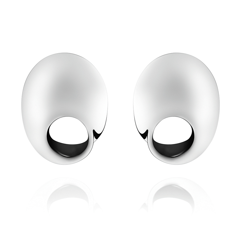 Georg Jensen Mobius Open Oval Sterling Silver Earrings