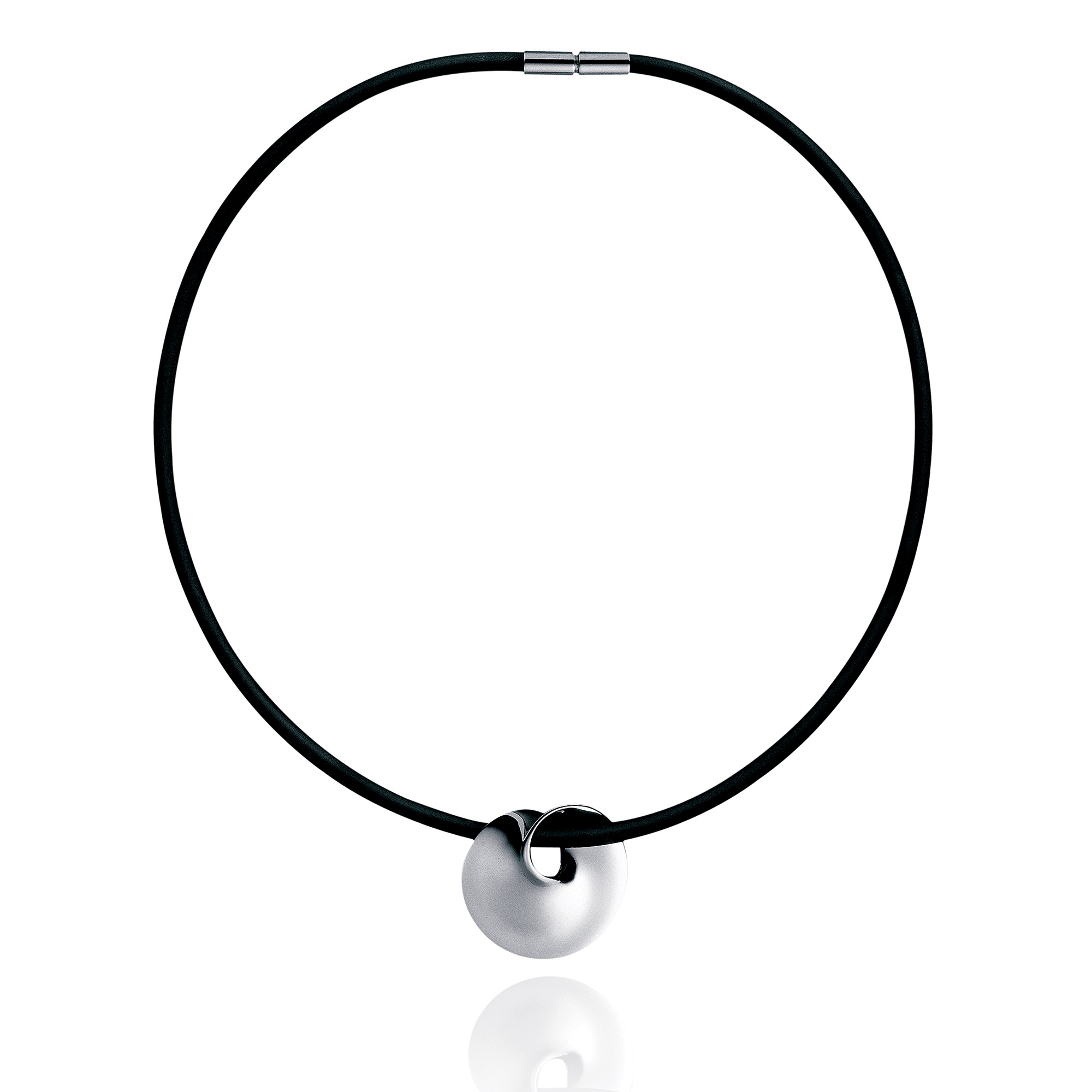 Georg Jensen Mobius Swirl Pendant Necklace