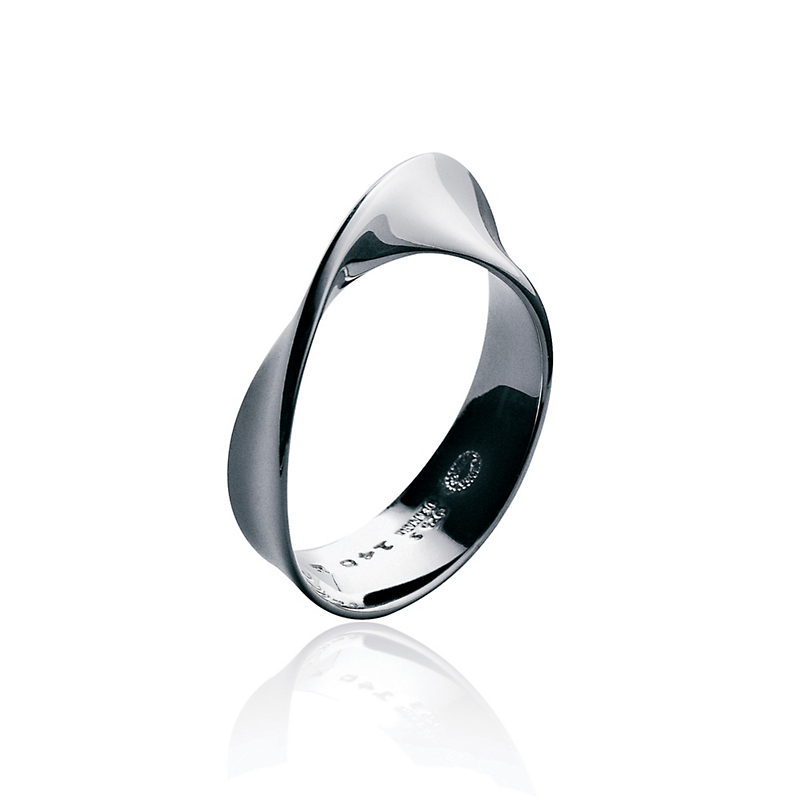 Georg Jensen Sterling Silver Mobius Twist Ring