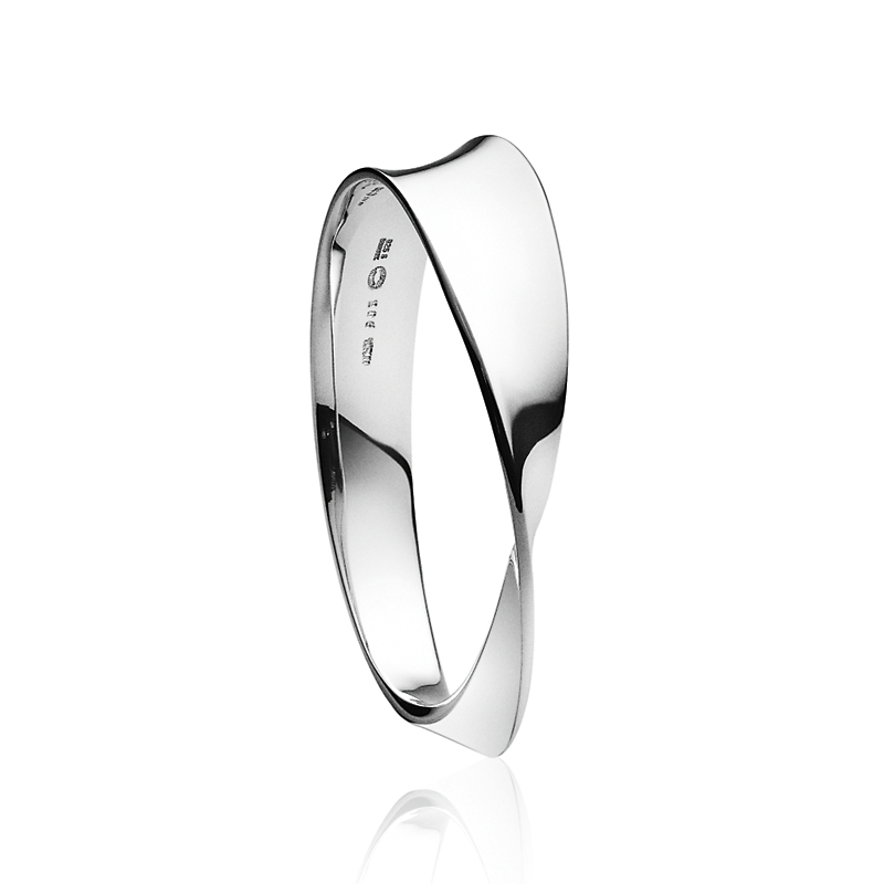 Georg Jensen Mobius Twist Sterling Silver Bangle