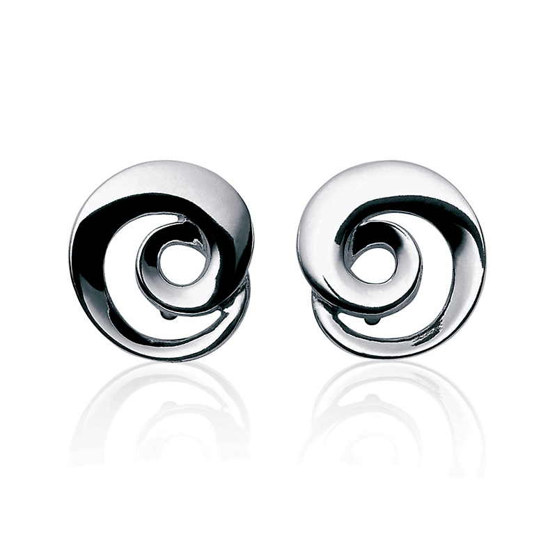 Georg Jensen Continuity Swirl Sterling Silver Earrings