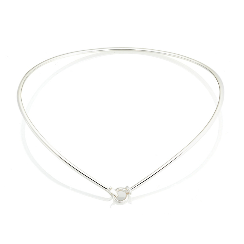 Georg Jensen Dew Drop V-Shaped Sterling Silver Neckring