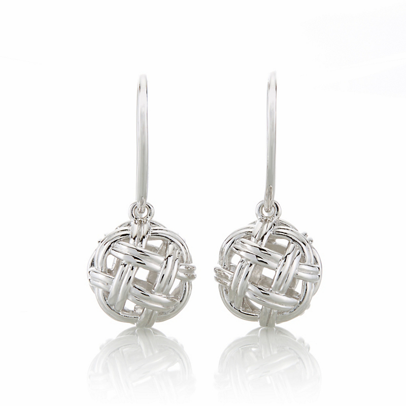 Sterling Silver Openwork Knot Earrings