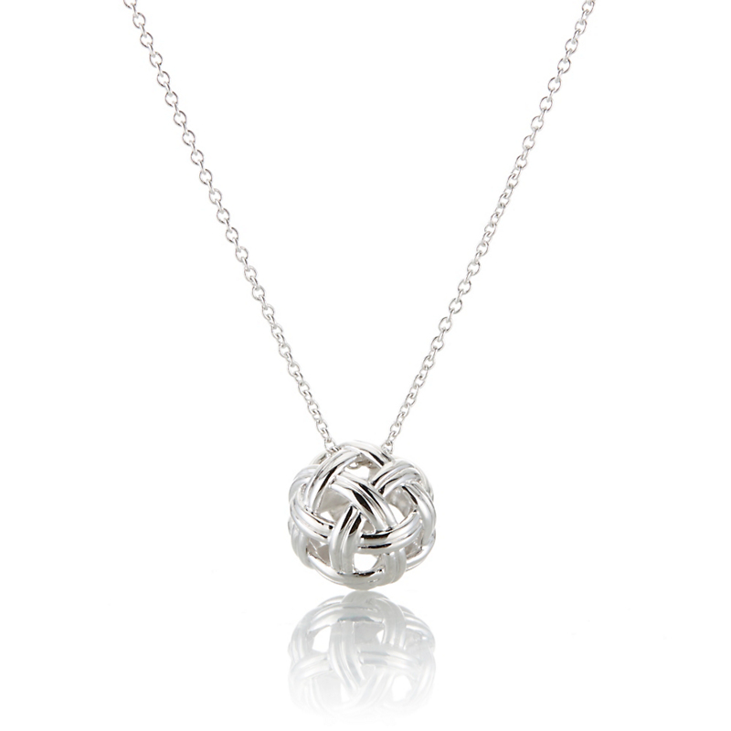 Sterling Silver Openwork Knot Necklace