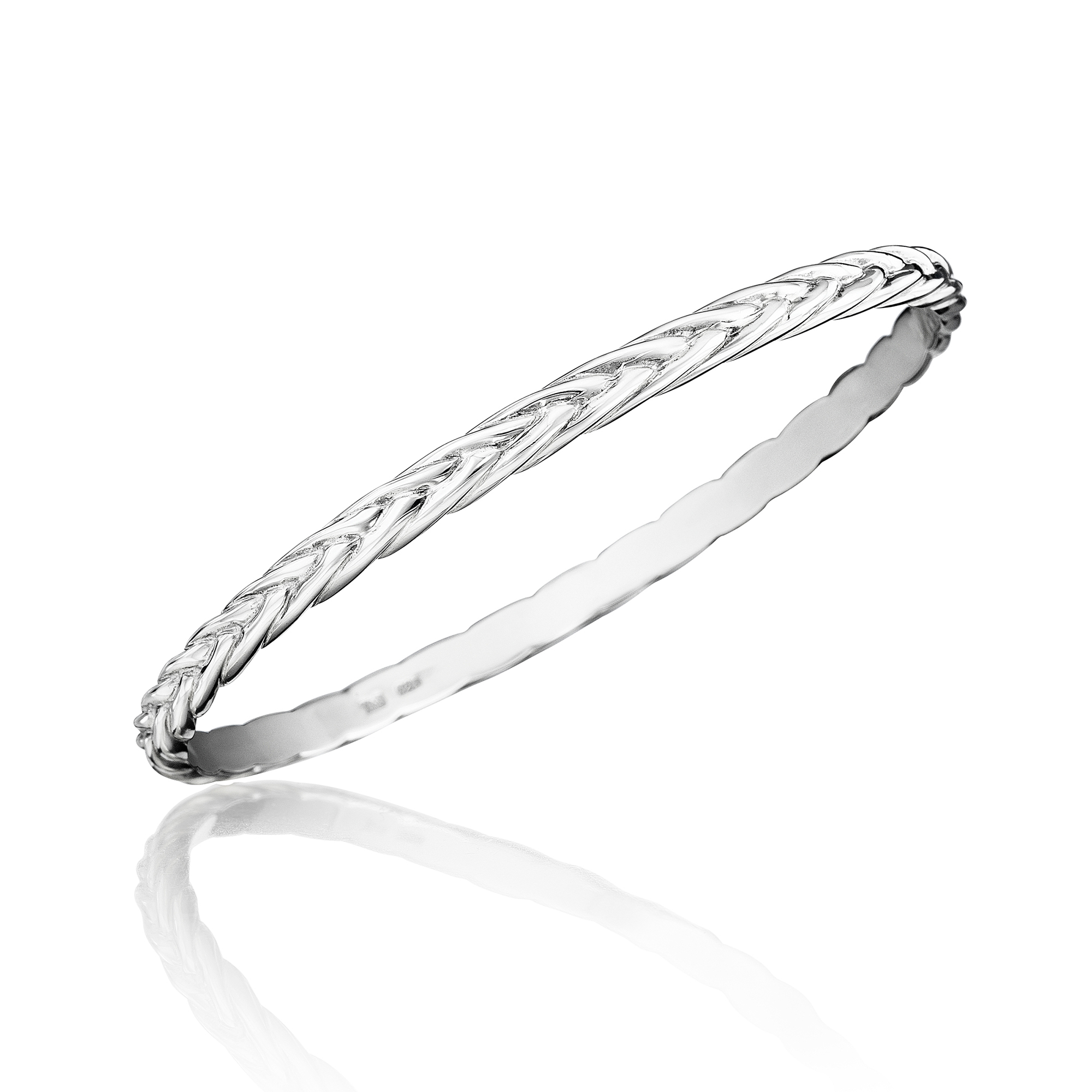 Sterling Silver Braid Bangle
