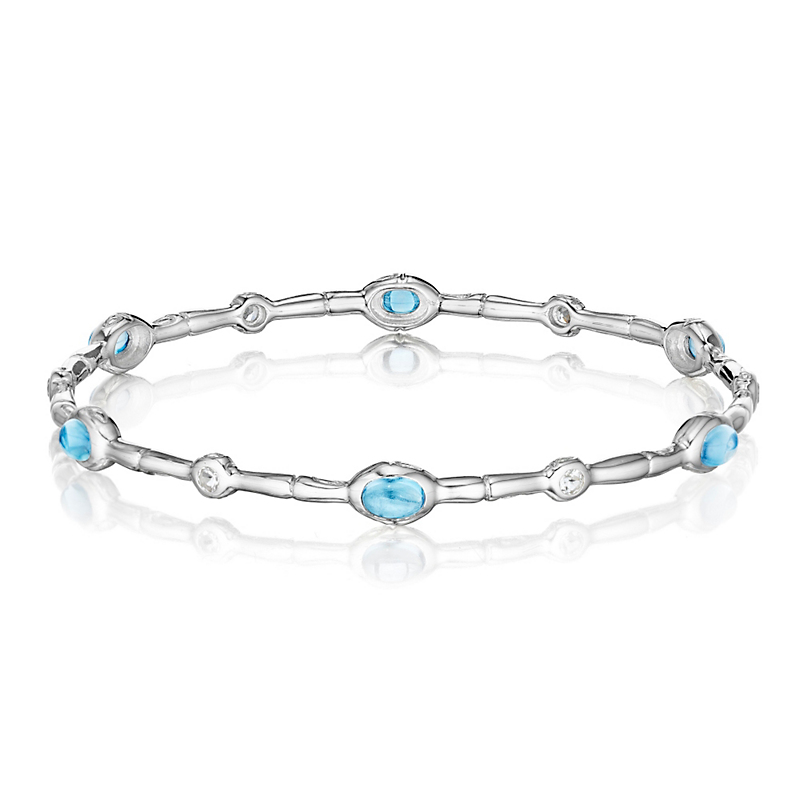 Blue & White Topaz Bangle