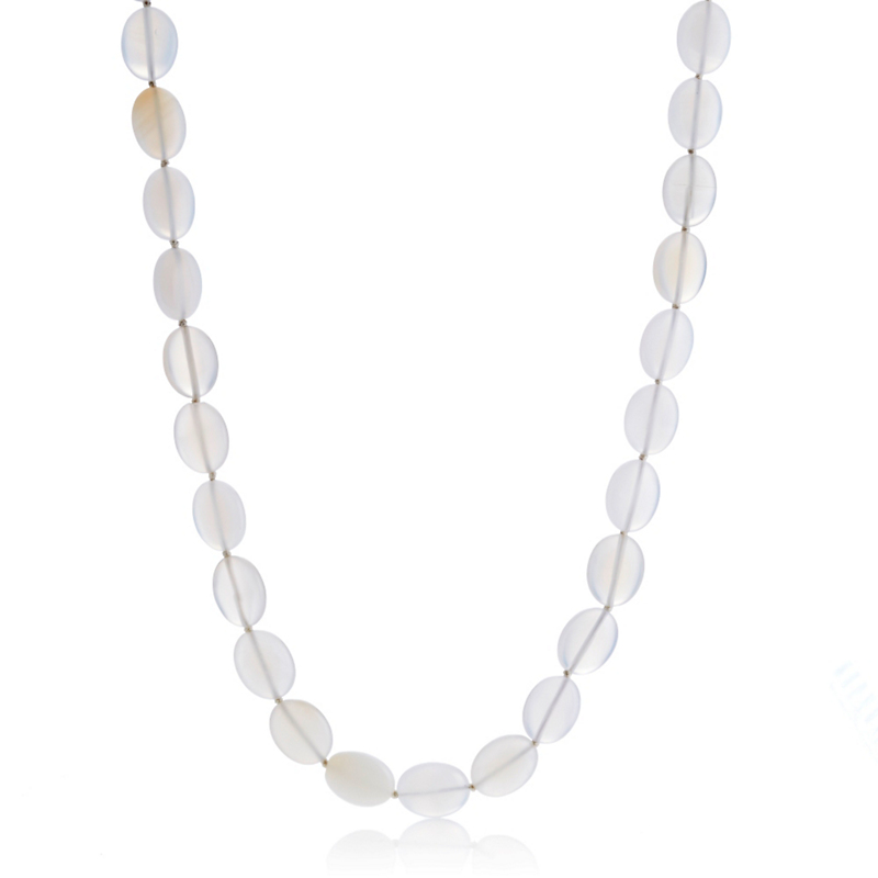 Gump's Translucent Agate Oval Necklace