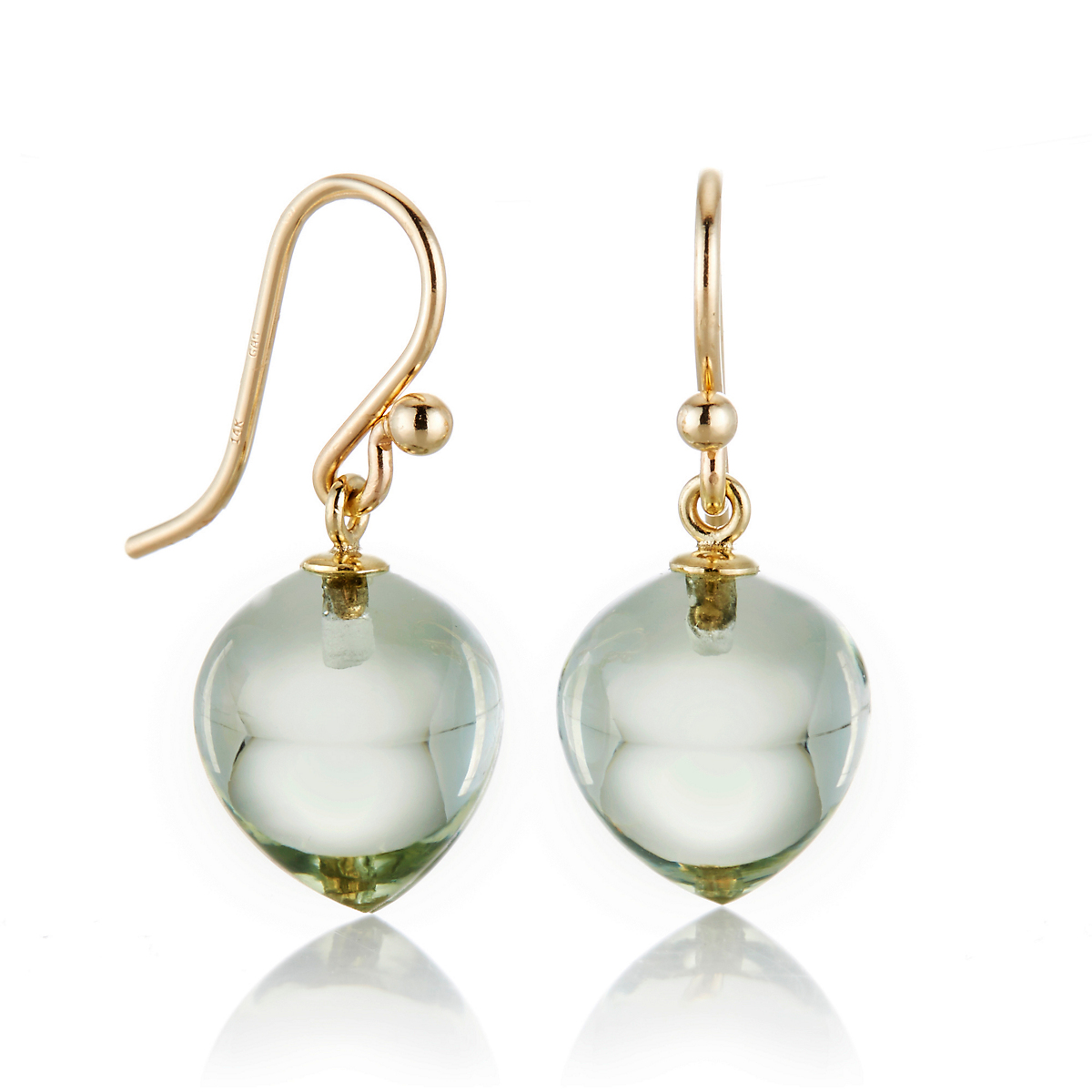 Gump's Green Quartz Berry Drop Earrings