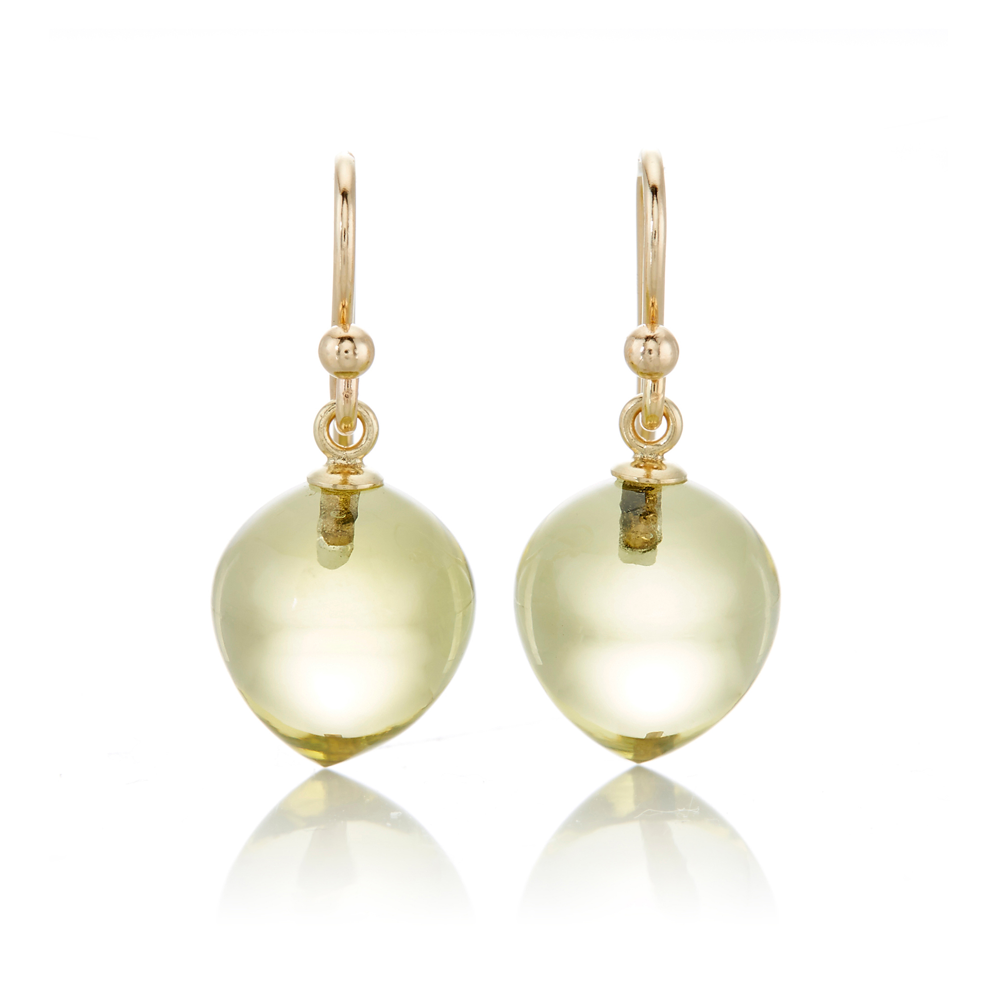 Gump's Lemon Quartz Berry Drop Earrings