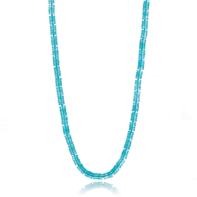 Gump's Faceted Apatite & Blue Topaz Silver Necklace