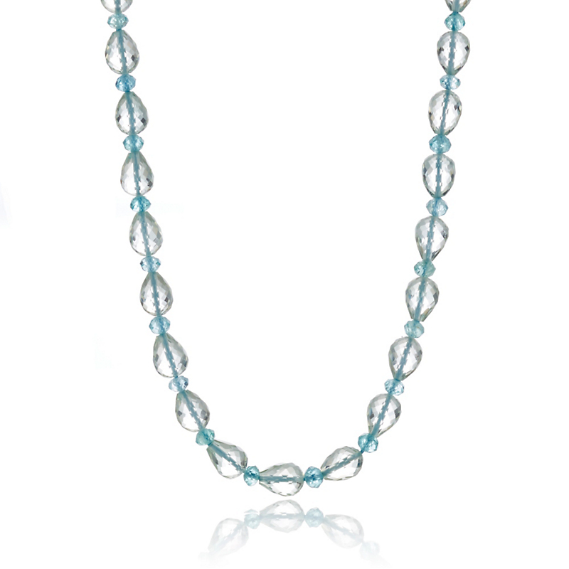 Gump's Faceted Green Quartz & Apatite Necklace