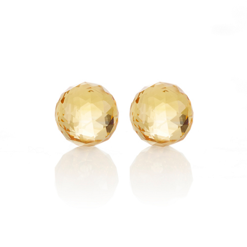 Gump's Faceted Citrine Bead Earrings