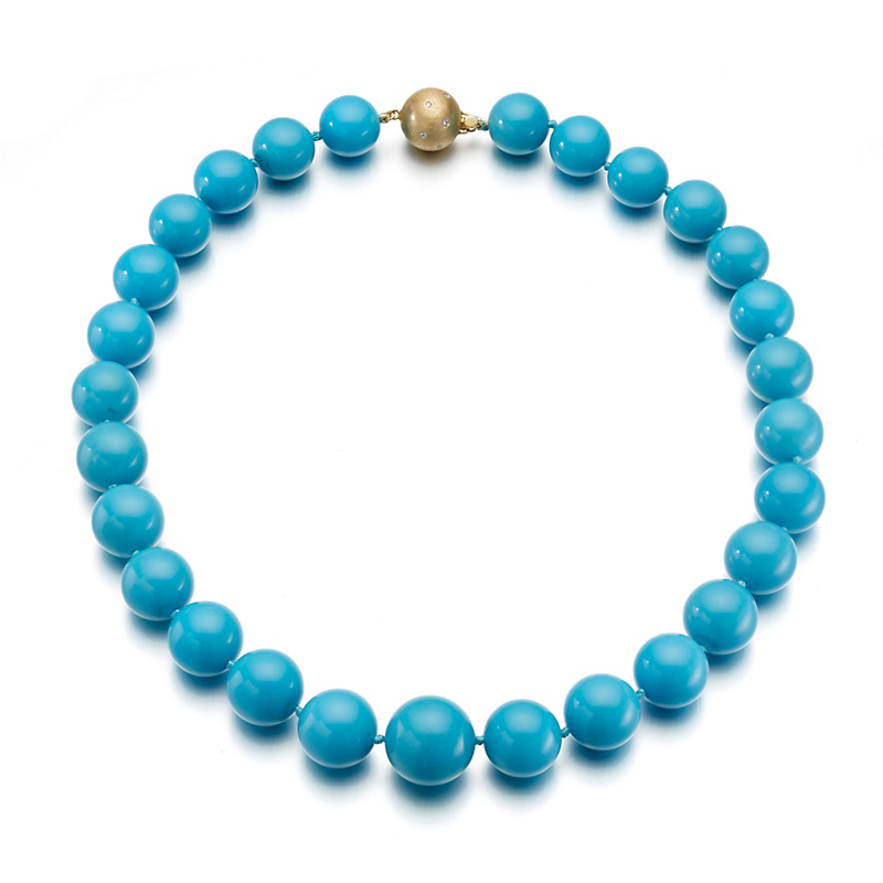 Gump's Large Graduated Turquoise Necklace
