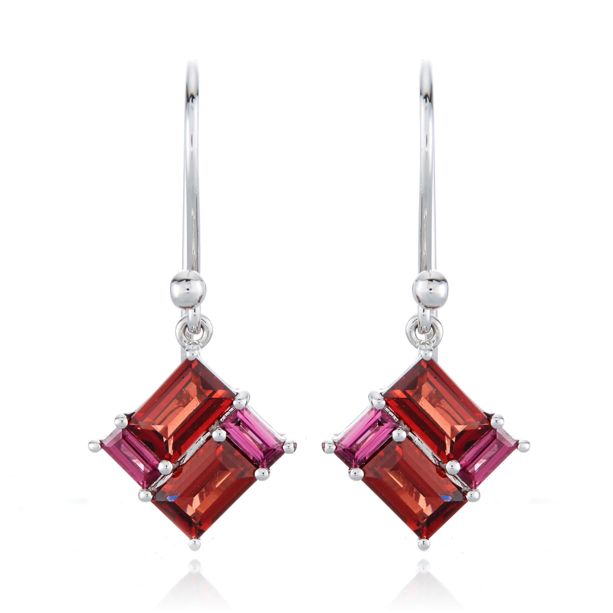 Gump's Garnet Mosaic Drop Earrings