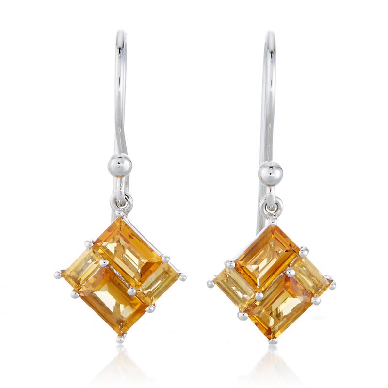 Gump's Citrine Mosaic Drop Earrings