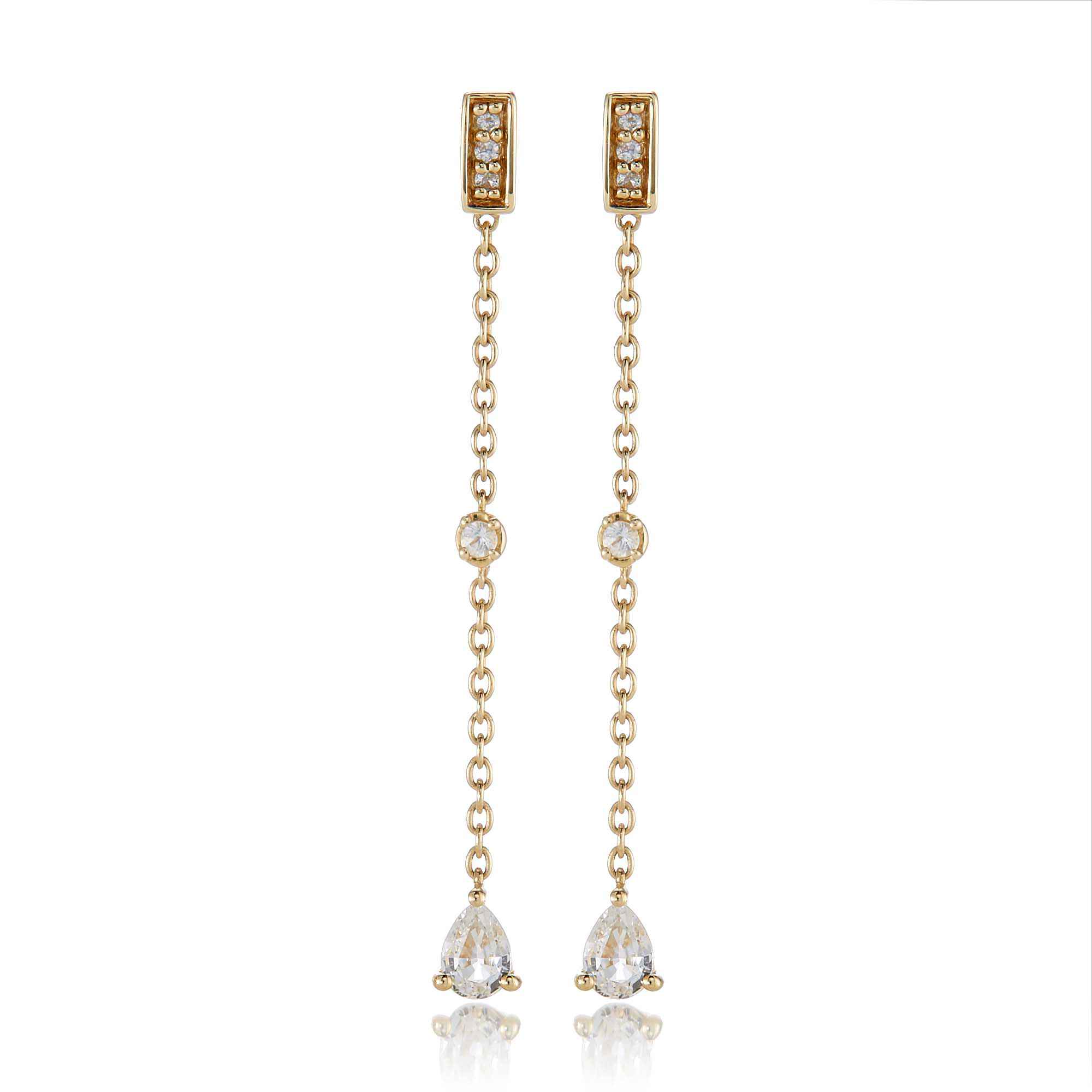 Gump's White Sapphire Multi Drop Earrings