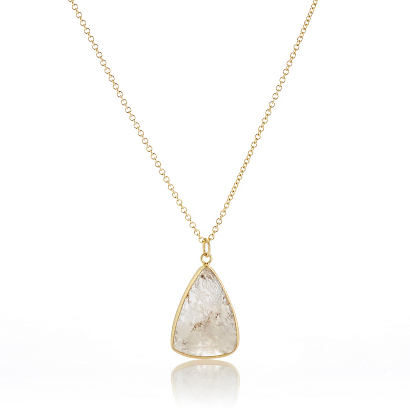 Monica Marcella Triangular Dendrite Pendant Necklace