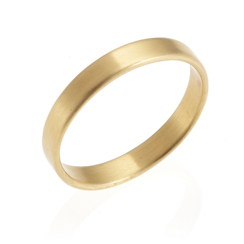 Monica Marcella Matte Gold Ribbon Band