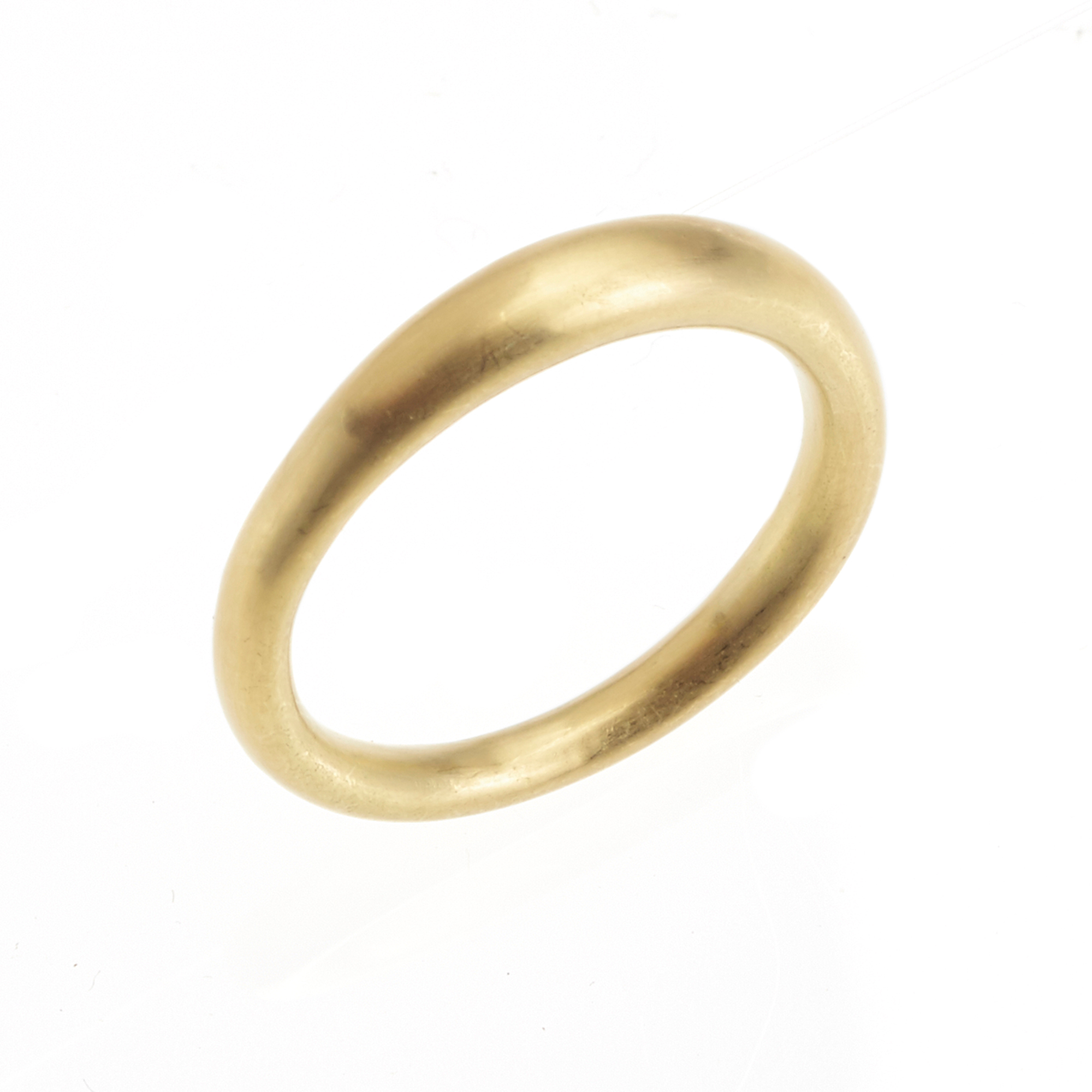 Monica Marcella Thick Tapered Matte Gold Band