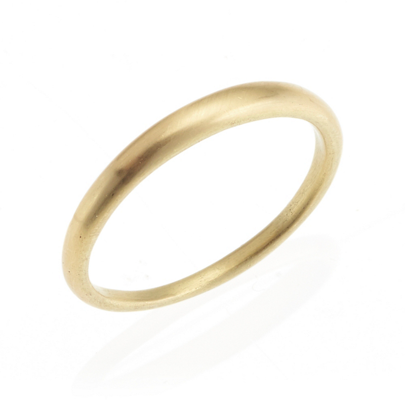 Monica Marcella Thin Tapered Matte Gold Band