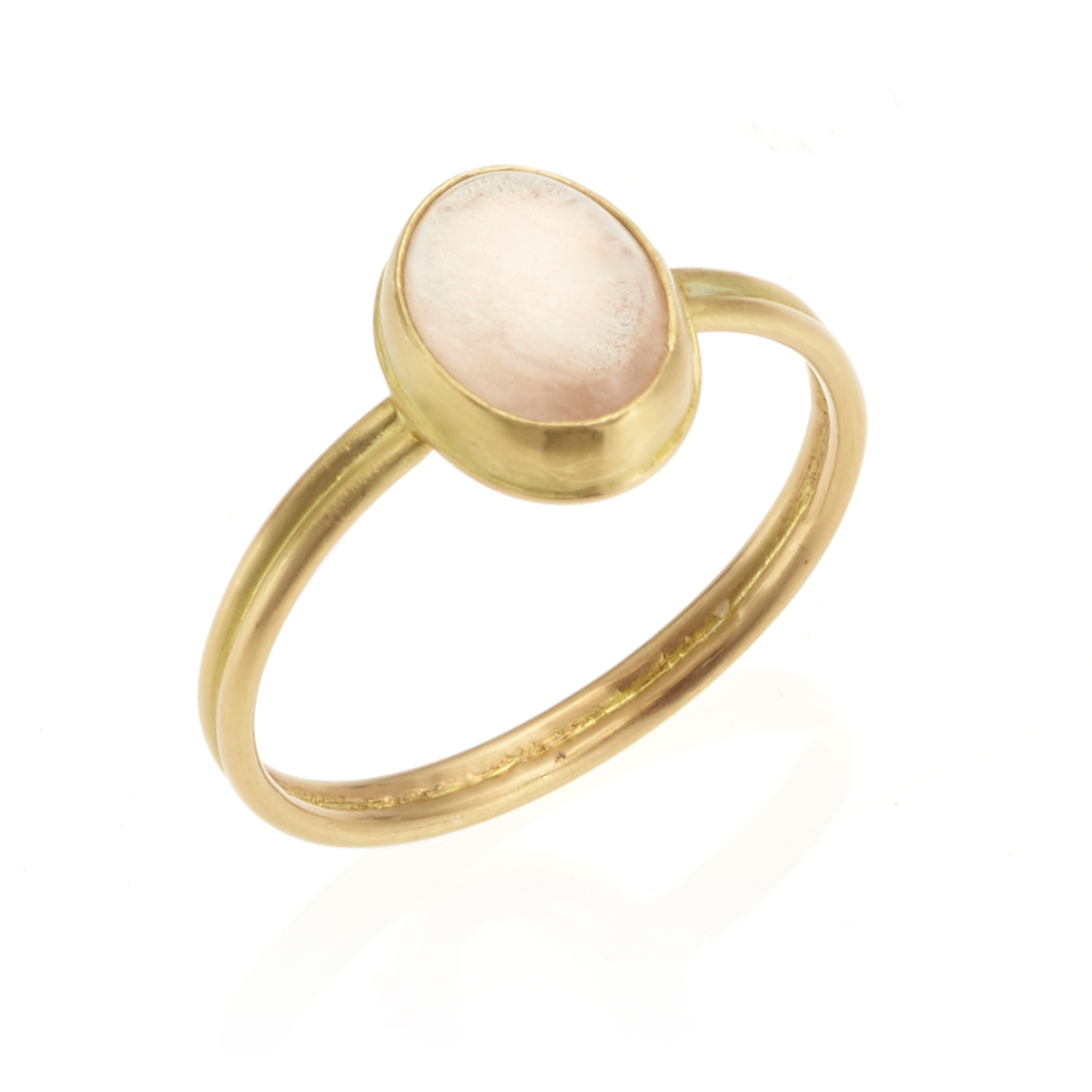 Monica Marcella Sunstone Double Band Bezel Ring