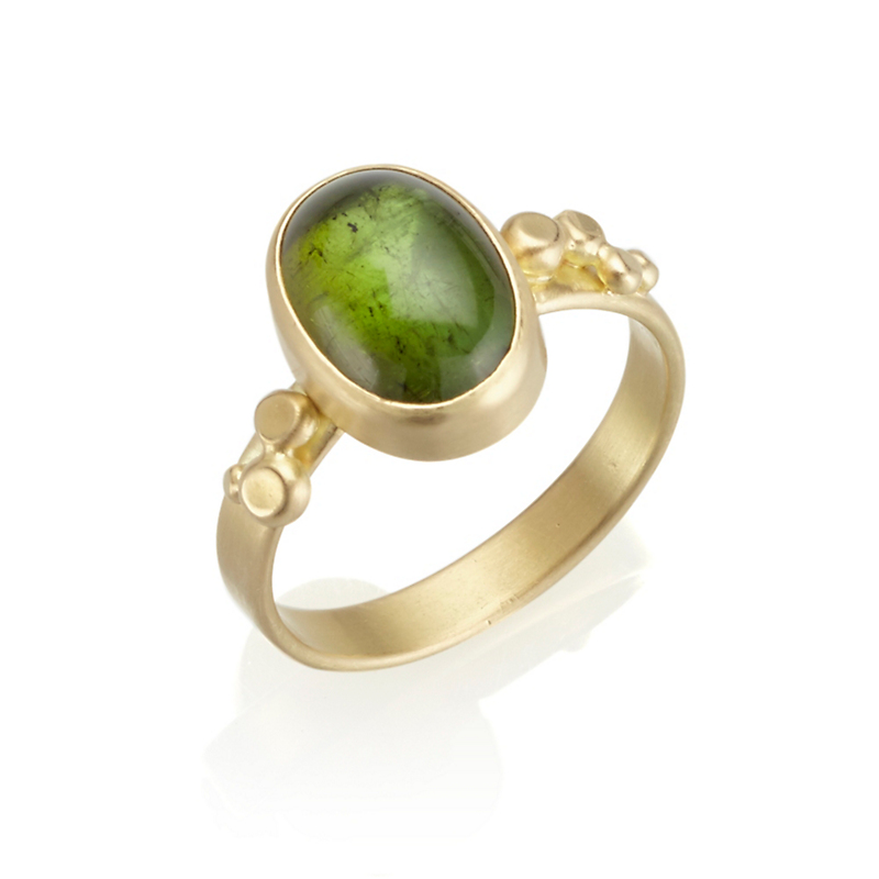 Monica Marcella Green Tourmaline Oval Constellation Ring