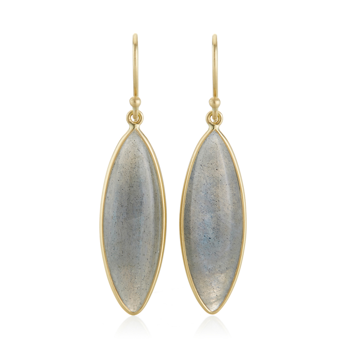 Kothari Labradorite Marquise Drop Earrings