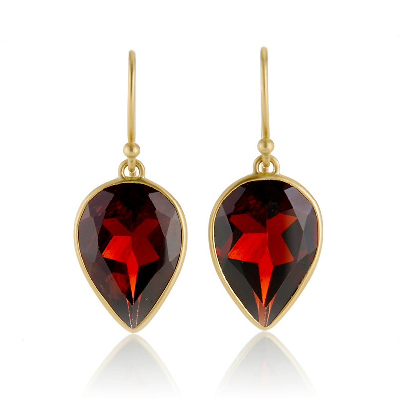 Kothari Garnet Drop Earrings