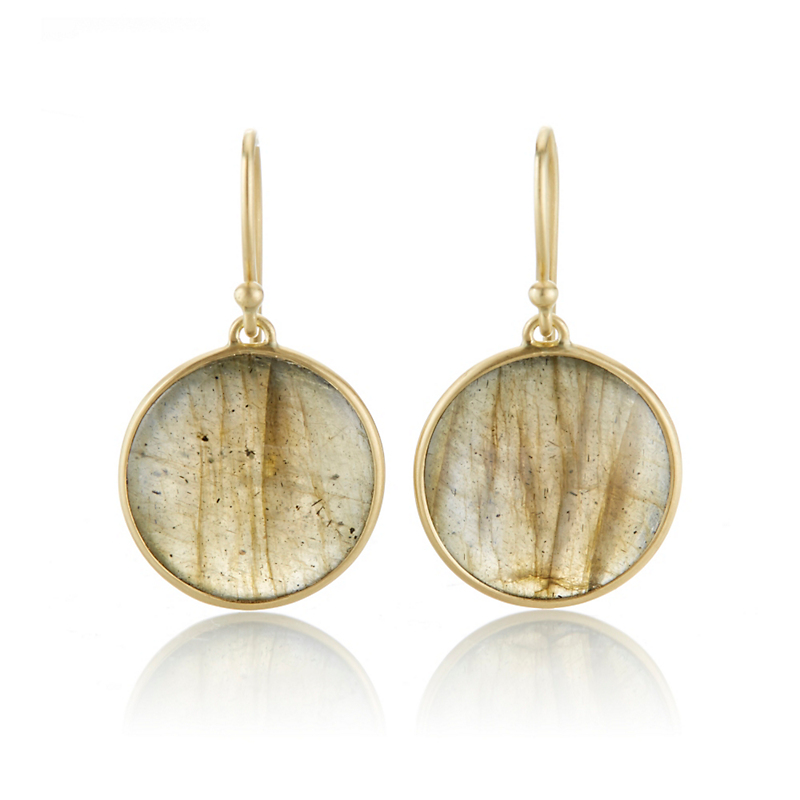 Kothari Labradorite Round Drop Earrings