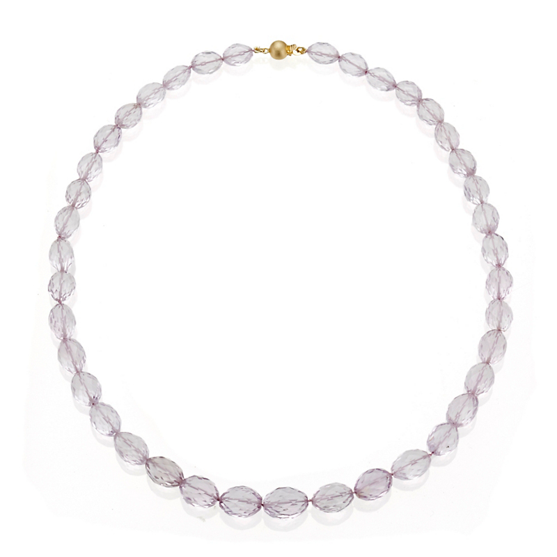 Gump's Faceted Light Amethyst Graduated Necklace