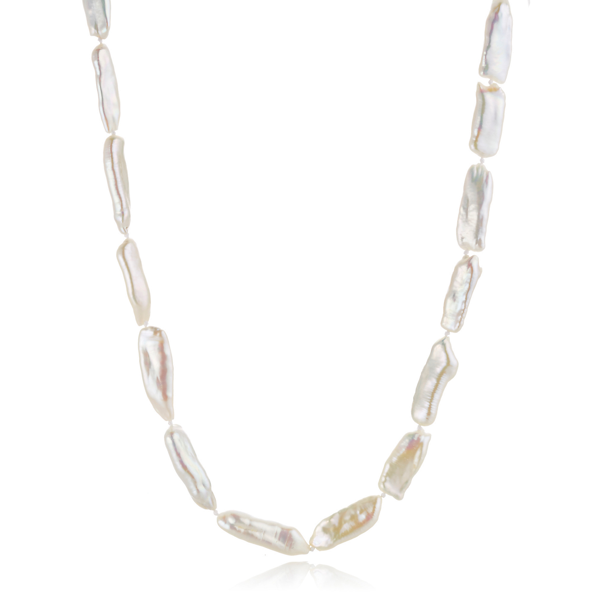 Gump's Elongated Freshwater Pearl Rope Necklace