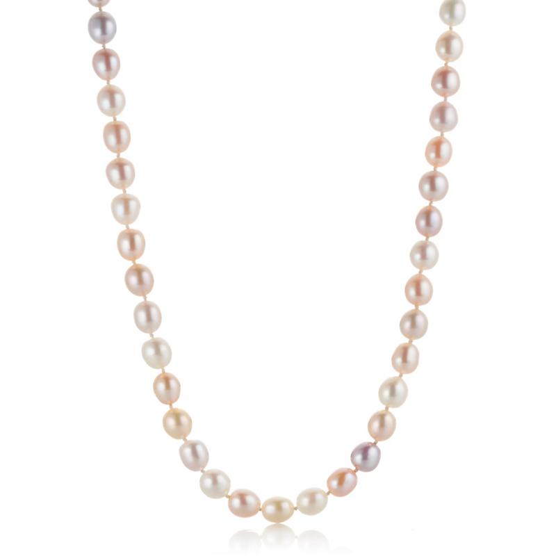 Gump's Multi Pink Freshwater Pearl Rope Necklace