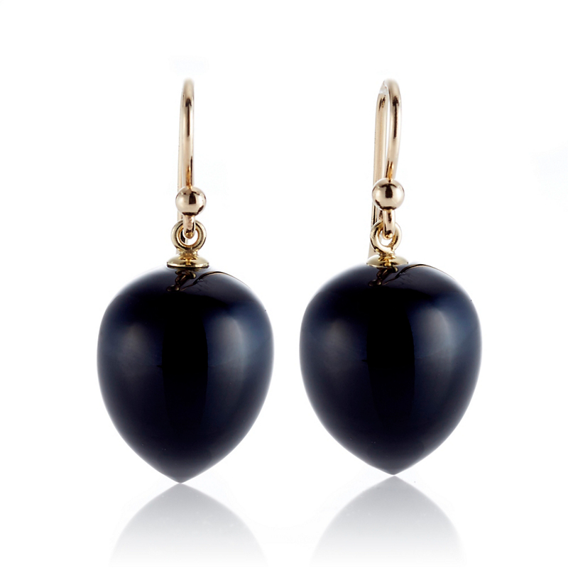 Gump's Onyx Acorn Drop Earrings