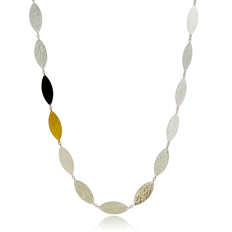Gurhan Sterling Silver Willow Flake Necklace